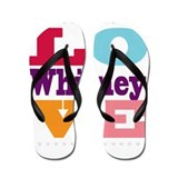 I Love Whitney Flip Flops