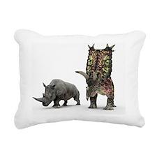 Rhino and Pentaceratops dinosaur - Rectangular Can
