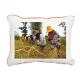 Rice harvest - Rectangular Canvas Pillow