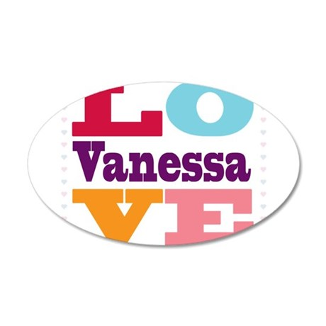 I Love Vanessa 20x12 Oval Wall Decal