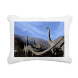 Sauropod dinosaurs - Rectangular Canvas Pillow