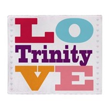 I Love Trinity Throw Blanket
