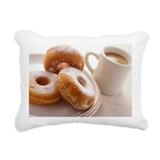 Coffee and doughnuts - Rectangular Canvas Pillow