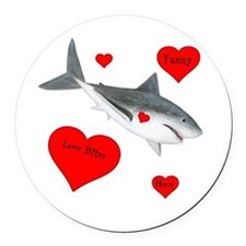 Personalized Shark Round Car Magnet
