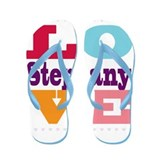 I Love Stephany Flip Flops