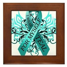 I Wear Teal for Myself Framed Tile