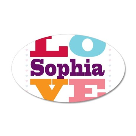 I Love Sophia 20x12 Oval Wall Decal