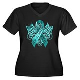 I Wear Teal for my Sister Women's Plus Size V-Neck