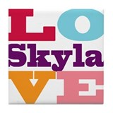 I Love Skyla Tile Coaster