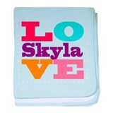 I Love Skyla baby blanket