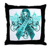 I Wear Teal for my Cousin Throw Pillow