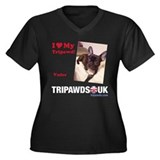 Personalized Tipawds UK Women's Plus Size V-Neck D
