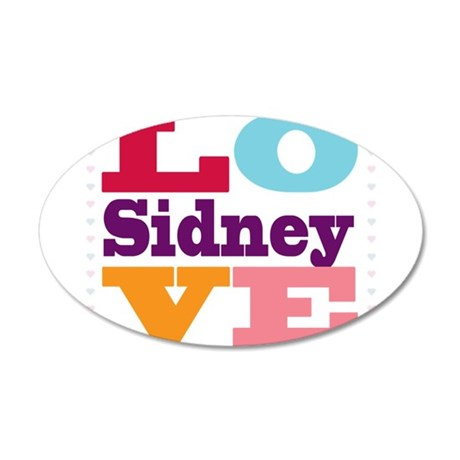 I Love Sidney 35x21 Oval Wall Decal