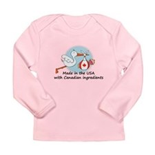 Stork Baby Canada USA Long Sleeve T-Shirt