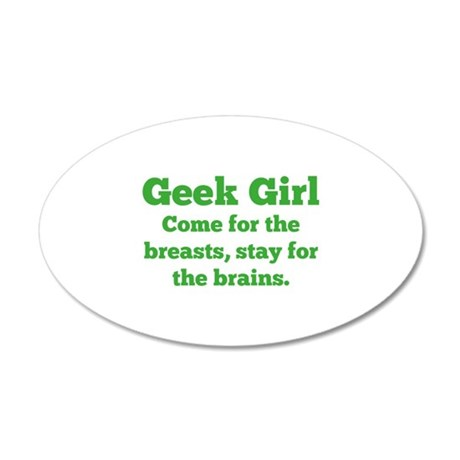 Geek Girl 38.5 x 24.5 Oval Wall Peel