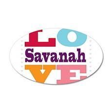 I Love Savanah 35x21 Oval Wall Decal