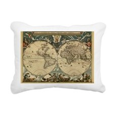 17th century world map - Rectangular Canvas Pillow