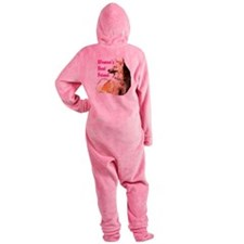 Icey woman's best friend Icelandic sheepdog Footed Pajamas