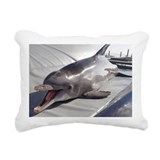 Dolphin training - Rectangular Canvas Pillow