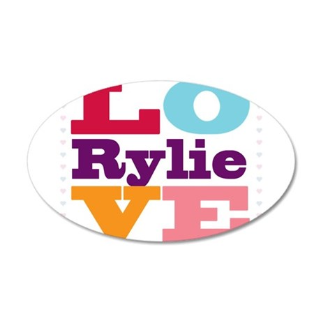 I Love Rylie 20x12 Oval Wall Decal
