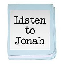 Listen to Jonah baby blanket