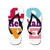 I Love Rebekah Flip Flops