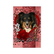 Valentines - Key to My Heart - Sheltie Rectangle M