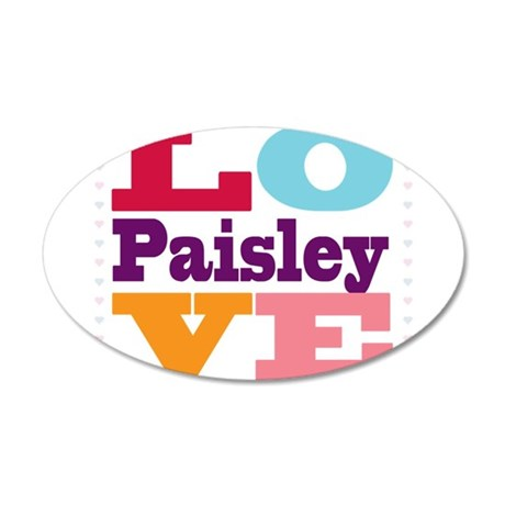I Love Paisley 35x21 Oval Wall Decal