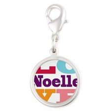 I Love Noelle Silver Round Charm