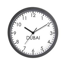 DUBAI Modern Newsroom Wall Clock