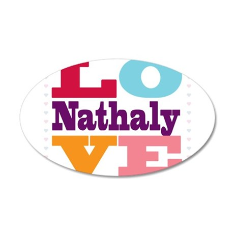 I Love Nathaly 20x12 Oval Wall Decal