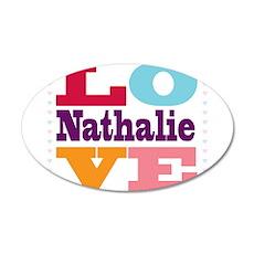 I Love Nathalie 35x21 Oval Wall Decal