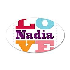 I Love Nadia 20x12 Oval Wall Decal