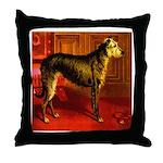 Deerhound Cassell 1881 Digita Throw Pillow
