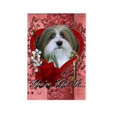 Valentines - Key to My Heart - Havanese Rectangle