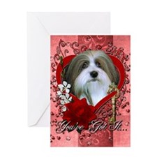 Valentines - Key to My Heart - Havanese Greeting C