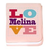 I Love Melina baby blanket