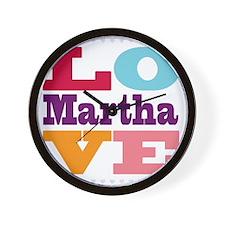 I Love Martha Wall Clock