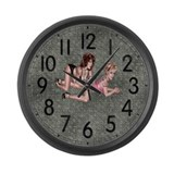 Diamond Tattoo Large Wall Clock