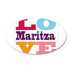 I Love Maritza 20x12 Oval Wall Decal