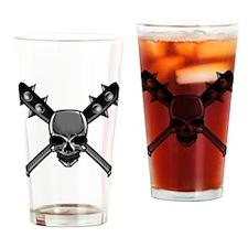SkullCrossbats copy Drinking Glass
