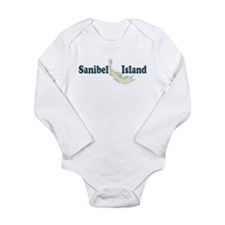 Sanibel Island - Map Design. Long Sleeve Infant Bo