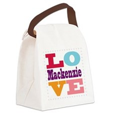 I Love Mackenzie Canvas Lunch Bag