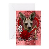 Valentines - Key to My Heart - Kangaroo Greeting C