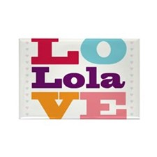 I Love Lola Rectangle Magnet