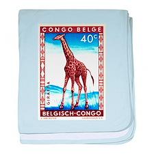 Vintage 1959 Belgian Congo Giraffe Postage Stamp b