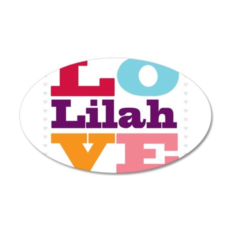 I Love Lilah 35x21 Oval Wall Decal