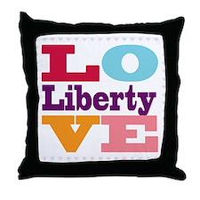 I Love Liberty Throw Pillow