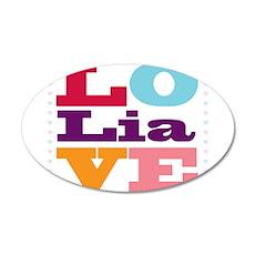 I Love Lia 20x12 Oval Wall Decal