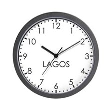 LAGOS Modern Newsroom Wall Clock